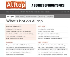 how to select a blog topic